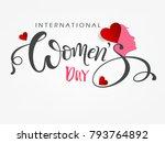 international happy womens day... | Shutterstock .eps vector #793764892