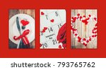 collage of love and romantic....   Shutterstock . vector #793765762
