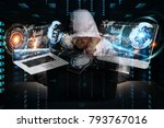 hacker accessing to personal... | Shutterstock . vector #793767016