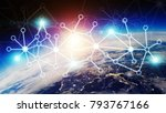 connections system and global... | Shutterstock . vector #793767166
