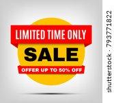 round sale banner  special... | Shutterstock .eps vector #793771822
