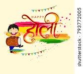 happy holi indian hindu... | Shutterstock .eps vector #793772005