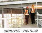 architects in the construction... | Shutterstock . vector #793776832