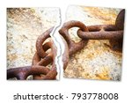 breaking the chains   concept... | Shutterstock . vector #793778008