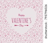 valentine's day poster with... | Shutterstock .eps vector #793796026