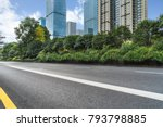 city empty traffic road with... | Shutterstock . vector #793798885