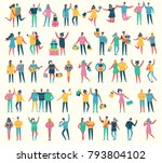 vector illustration in a flat... | Shutterstock .eps vector #793804102