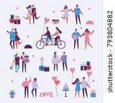 vector valentine illustration... | Shutterstock .eps vector #793804882
