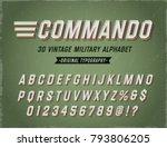 \'commando\' Vintage Retro 3d...