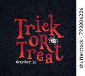 """trick or treat"" hand lettered... 