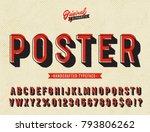 'poster' vintage sans serif... | Shutterstock .eps vector #793806262
