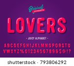 'lovers' vintage sans serif... | Shutterstock .eps vector #793806292