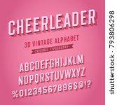 'cheerleader' vintage retro 3d... | Shutterstock .eps vector #793806298