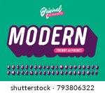 slanted 'modern' vintage 3d... | Shutterstock .eps vector #793806322