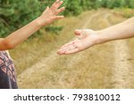 stylish hands of a parent and... | Shutterstock . vector #793810012