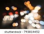 abstract blur night traffic... | Shutterstock . vector #793814452