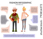 hipster dress style infographic.... | Shutterstock .eps vector #793816372