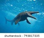 Mosasaurus, huge ocean lizard, extinct Mosasaur between 70 and 66 million years ago (3d illustration)