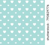 romantic seamless pattern with... | Shutterstock .eps vector #793829776
