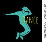 dance logo. young people dance... | Shutterstock .eps vector #793831312