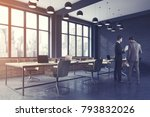 conference room corner with... | Shutterstock . vector #793832026