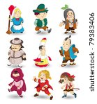 cartoon story people icon set | Shutterstock .eps vector #79383406