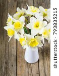 bouquet of winter daffodils | Shutterstock . vector #793835215