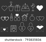 simple flat icons collection... | Shutterstock .eps vector #793835836