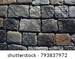 texture of stone pavement tiles ... | Shutterstock . vector #793837972