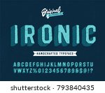 'ironic' funny hand drawn... | Shutterstock .eps vector #793840435