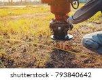technician installing ground... | Shutterstock . vector #793840642