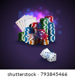 poker vector illustration ... | Shutterstock .eps vector #793845466