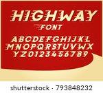 custom font in italic style... | Shutterstock .eps vector #793848232