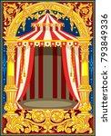 carnival poster template.... | Shutterstock .eps vector #793849336