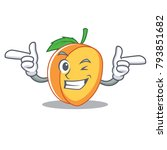 wink apricot character cartoon... | Shutterstock .eps vector #793851682