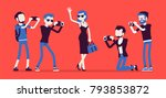 celebrity and journalists.... | Shutterstock .eps vector #793853872
