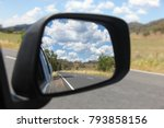 view in the side mirror of the... | Shutterstock . vector #793858156
