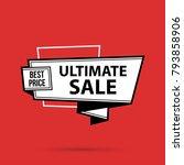 ultimate sale banner template...   Shutterstock .eps vector #793858906