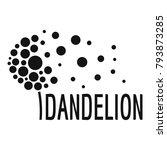 beautiful dandelion logo icon.... | Shutterstock .eps vector #793873285