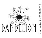 blooming dandelion logo icon.... | Shutterstock .eps vector #793873312