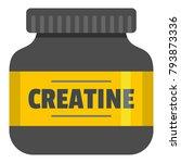 sport protein icon. flat... | Shutterstock .eps vector #793873336