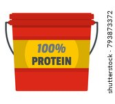 protein bucket icon. flat... | Shutterstock .eps vector #793873372