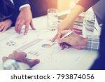 businessmen talking about new... | Shutterstock . vector #793874056