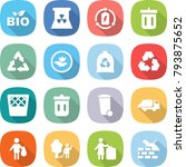 flat vector icon set   bio... | Shutterstock .eps vector #793875652