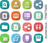 flat vector icon set   search... | Shutterstock .eps vector #793875685
