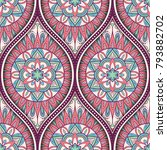 seamless pattern with ethnic...   Shutterstock .eps vector #793882702