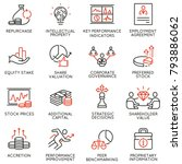 vector set of linear icons... | Shutterstock .eps vector #793886062