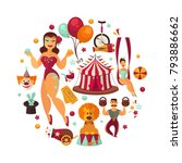 circus show performance... | Shutterstock .eps vector #793886662
