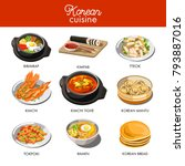 korean cuisine traditional... | Shutterstock .eps vector #793887016