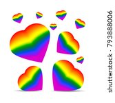 hearts in the form of a lgbt... | Shutterstock .eps vector #793888006